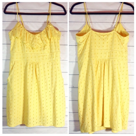 Lilly Pulitzer Dresses & Skirts - Lilly Pulitzer Sunny Yellow Sundress Medium EUC