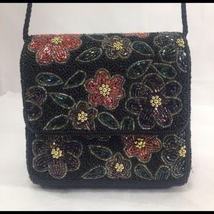 Lord & Taylor Handbags - LORD &TAYLOR Elegant Vintage Floral Beaded Clutch