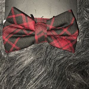 Other - NEW !!! Black and Red Plaid Bow Tie