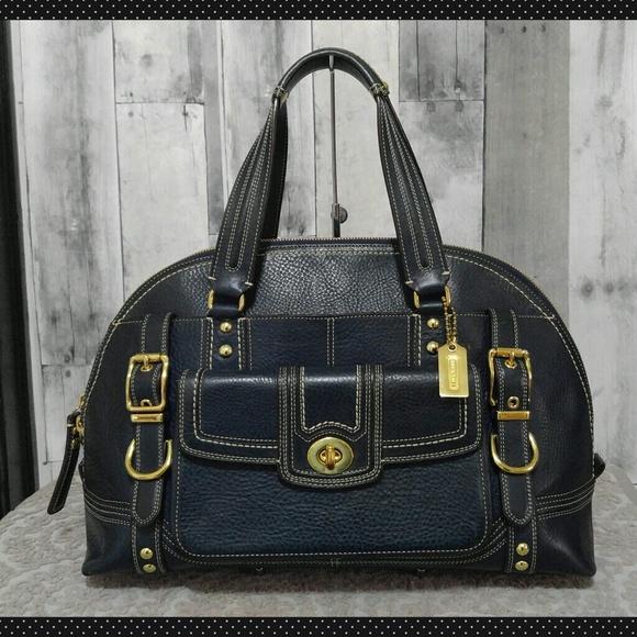 e471ba970 Coach Bags | Dark Teal Miranda Xl Leather Satchel | Poshmark