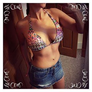 Luli Fama Other - Luli Fama Lil' Gems D/DD Bikini Top NWT in package