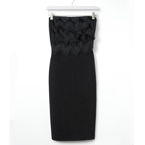 Banana Republic Dresses & Skirts - Banana Republic Black Fringe Knit Dress