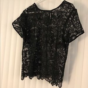 Bisou bisou black lace top ❤