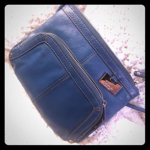 Tignanello Handbags - SALE Tignanello cross body blue leather purse
