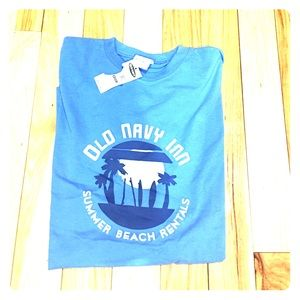 Old navy men's blue sz Med t shirt  nwt