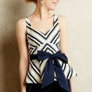 Anthropologie Tops - Anthropologie Maeve - Nautical Belted Top