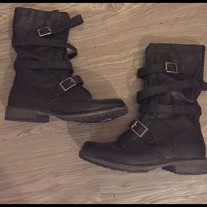 Madden Girl Shoes - Madden Girl mid calf slouchy boots with buckles