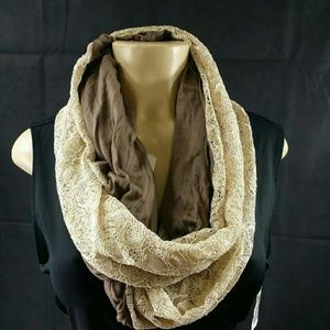 Collection XIIX Accessories - Collection Xiix Sparkle Mixed Media Infinity scarf
