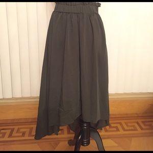 Mossimo Dresses & Skirts - High Waisted Olive Green Asymmetrical Hem Skirt