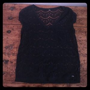 Tops - Navy lace t-shirt