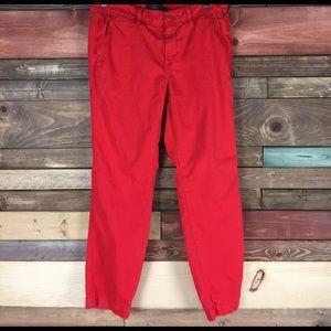 J. Crew Pants - J. Crew True Red Chino Ankle Pant - Sz 6