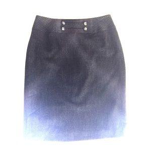 Charchoal Gray Pinstripe Pencil Skirt