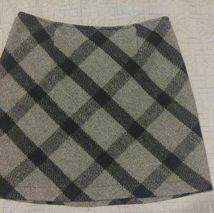 Wool checkered School Girl mini skirt
