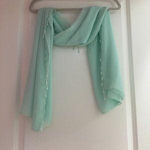 Lalique mint color scarf