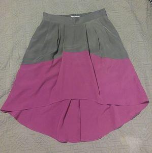 New BCBG pink & grey Hi-Lo skirt
