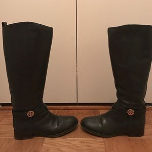 Tory Burch Shoes - TORY BURCH LEATHER RIDING BOOTS WITH DUST BAG