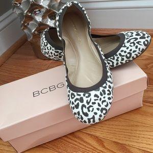 BCBGeneration Shoes - BCBGeneration Moneli Leopard Ballet Flats