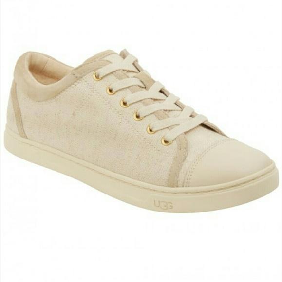 cdbeeb664a1 UGG AUSTRALIA Taya Canvas Sneaker in Cream