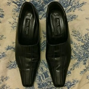 Paul Green Shoes - Paul Green black leather heels US size 7