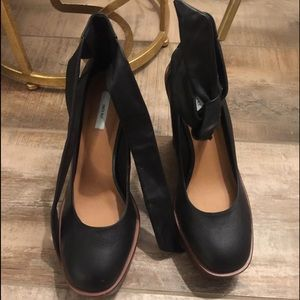 Urban Outfitters Shoes - Urban outfitters black & wood wedges!