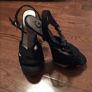 G by Guess Cork Heels