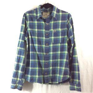 Hollister Other - Hollister blue/green plaid flannel button-up