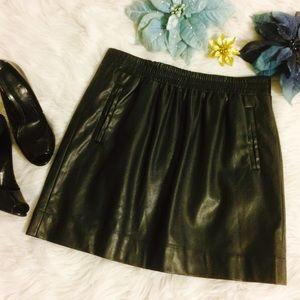 Ann Taylor Loft Faux Leather Skirt