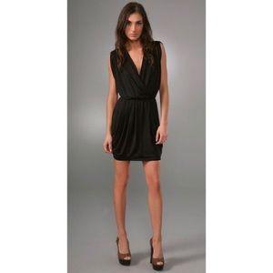 Black Halo Dresses & Skirts - Black Halo Jill draped little black dress