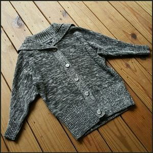 F21 L gray marbled batwing sweater cardigan
