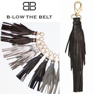 B-Low the Belt Accessories - NWT B-Low The Belt Gray Leather Tassel Keychain