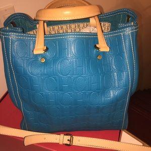 Carolina Herrera Handbags - CAROLINA HERRERA TURQUOISE PURSE