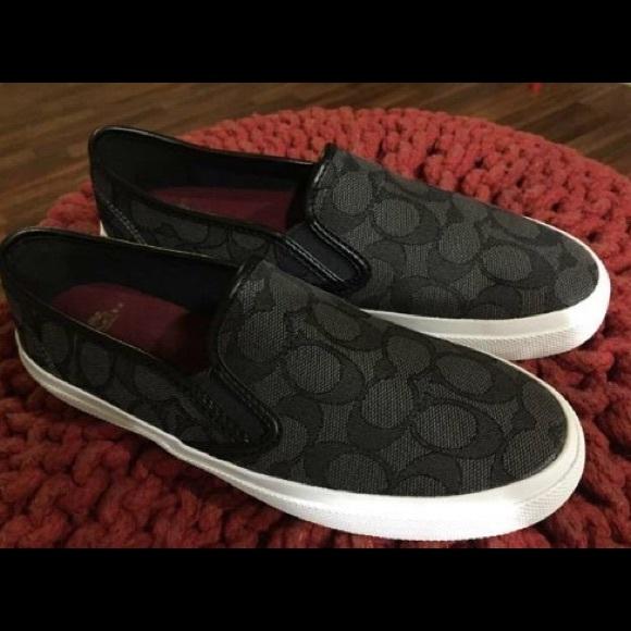 7a885eb4c0 Coach Shoes | Chrissy Outline Signature Canvas Sneakers | Poshmark