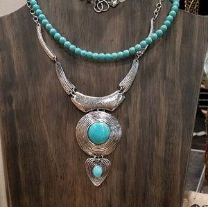 Jewelry - Boho Turquoise necklace