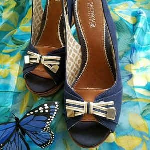 Sperry Top-Sider Shoes - EUC! SPERRY TOPSIDER PLATFORM HEELS
