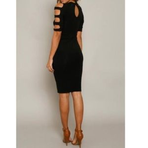 Dresses & Skirts - 🆕 black cutout sleeves midi dress RESTOCKED