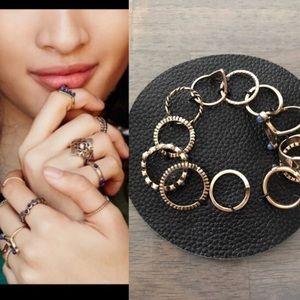 Free People Jewelry - NWT free people mega ring set stacking