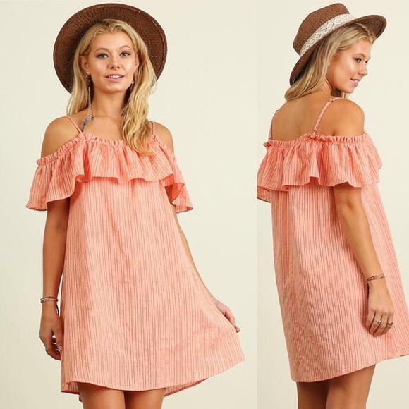 Free People Dresses & Skirts - On or Off Shoulder Pinstripe Dress