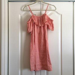 Free People Dresses - On or Off Shoulder Pinstripe Dress