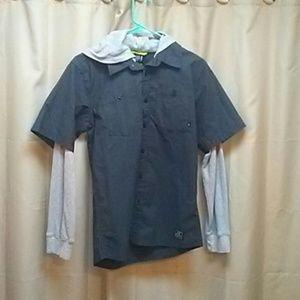 Nike Other - Boys long sleeve hooded nike shirt