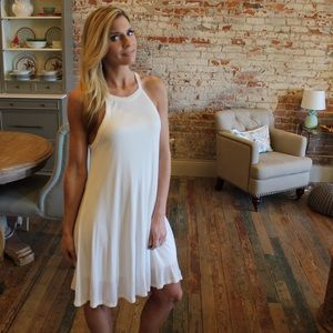 Dresses & Skirts - Ivory ribbed knit lined dress