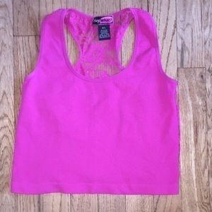 Joyce Leslie Tops - Pink crop top m/L