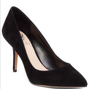 Vince Camuto Sales Black Suede Pumps Shoes NEW