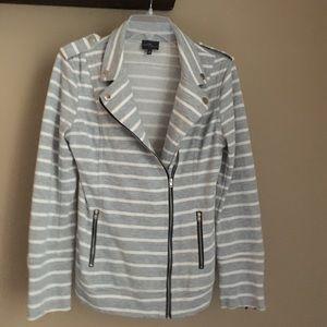 Market & Spruce Jackets & Blazers - Market & Spruce Elissa French Terry Moto Jacket