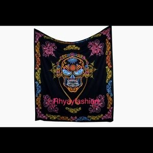 Other - 💀Skull wall hanging hand printed floor bed spread