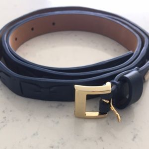Kate Spade navy gold bow belt Nwt  in the loop xl