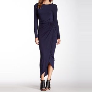 Loveappella Dresses & Skirts - Loveappella Long Sleeve Twist Wrap Dress