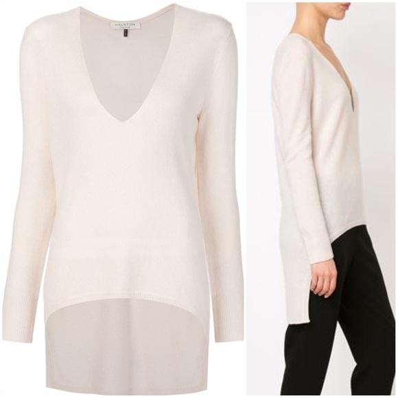 a34e15ca009 Halston Heritage Cashmere Blend High Low Sweater