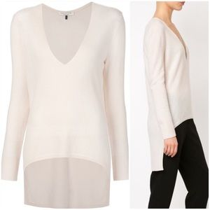 Halston Heritage Sweaters - Halston Heritage Cashmere Blend High Low Sweater