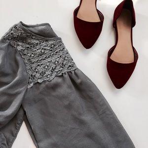 love on a hanger Tops - NWOT Gray Blouse