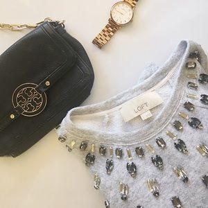 LOFT Sweaters - 🎉🎉HP 3/17/17🎉🎉LOFT jeweled  crew neck